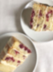 Raspberry, almond and white chocolate