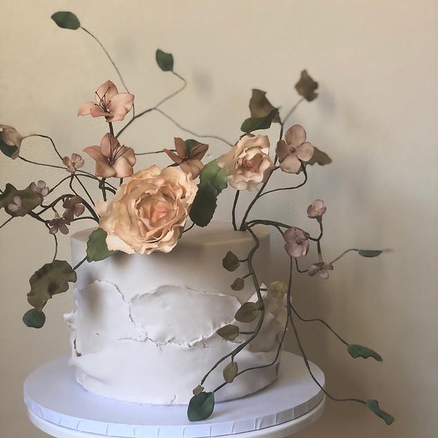 Single tier celebration cake