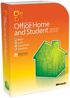 Home and Student 2010 Family Pack,32bit/64bit full version 5 PC install