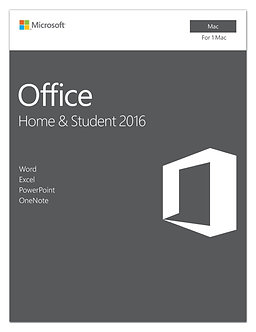 Home and Student 2016 for Mac | 5 user, Mac Key Card 32/64bit full version 5PCs
