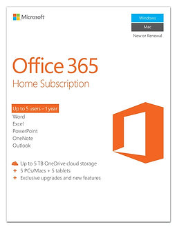 Office 365 Home , 5 users, PC/Mac Key Card,32/64bit full version 5 PC install.