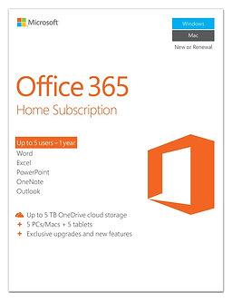 Office 365 Home , 5 users, PC/Mac Key Card,32/64bit full version 5 PC install.
