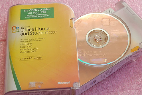 Home and Student 2007 - 5 User Family Pack,32bit/64bit full version 5 PC install