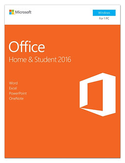 Home and Student 2016, 5 user, PC Key Card,32bit/64bit full version 5 PC install