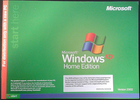 Windows XP Home Edition OEM,CD Disc and free shipping.