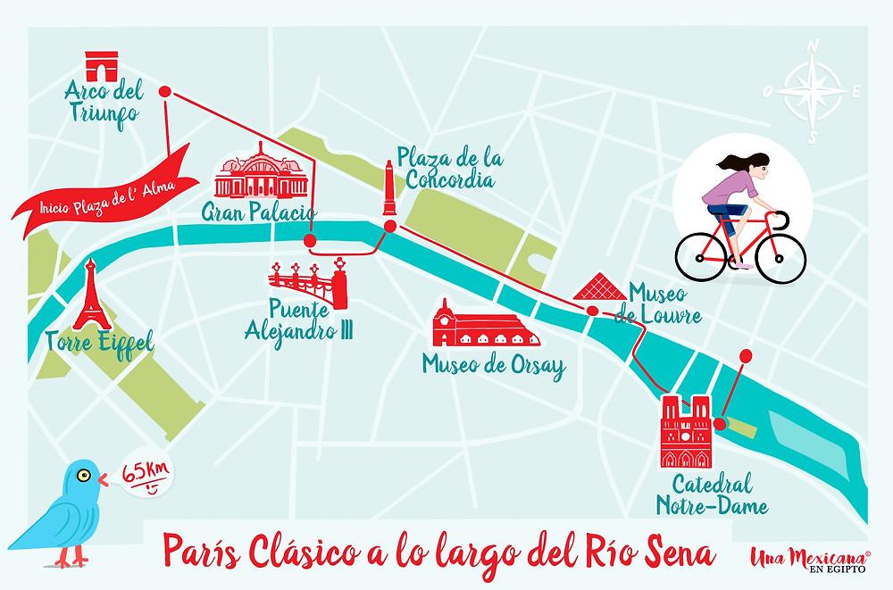 Esta ruta en bicicleta es la manera perfecta de admirar los monumentos de París y los monumentos imperdibles.