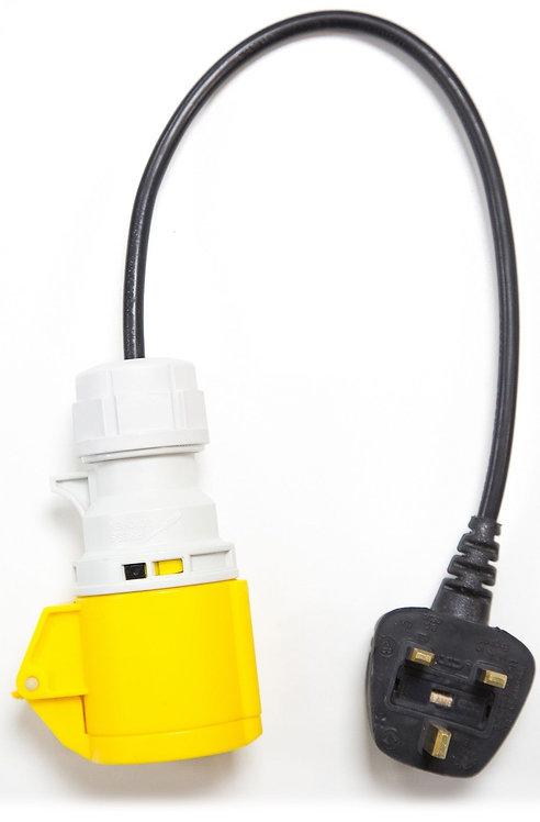 13A Plug to 110V 16A 3 Pin Socket Adaptor for PAT Testing (UK) | AMECaL TL-131A