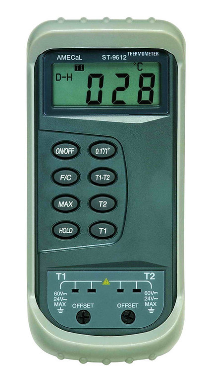 Dual Input Industrial Thermometer for Type K Thermocouples | AMECaL ST-9612