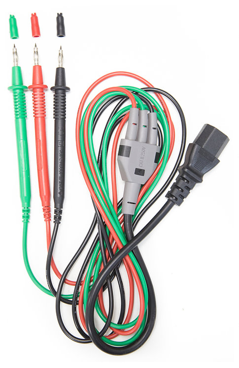 IEC Lead with 3 Probes for electrical testers (non-fused) | AMECaL TL-112