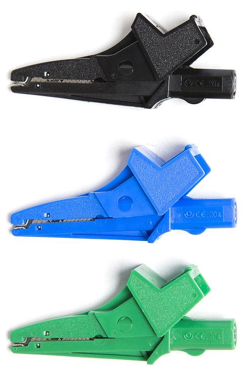 Black Croc Clip, Blue Croc Clip and Green Croc Clip | AMECaL TL-121A