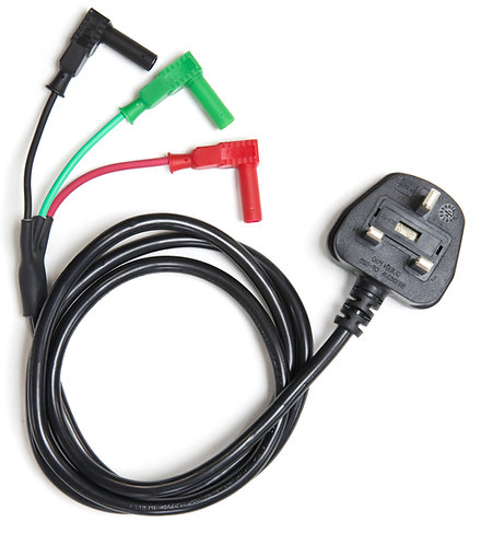Mains Test Lead For use with Fluke 1650 or Megger 1550 / 1700 | AMECaL TL-100A-R
