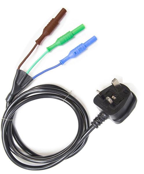 Mains Test Lead for Fluke / Megger (6220-810 SIA10 MTC1363) | AMECaL TL-100C-S