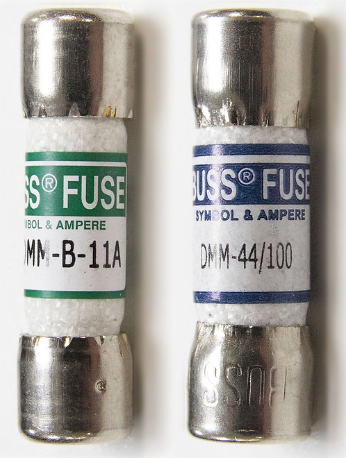 2 Cartridge Fuse Set for Fluke Multimeters (11A / 440mA) | AMECaL FZ-03