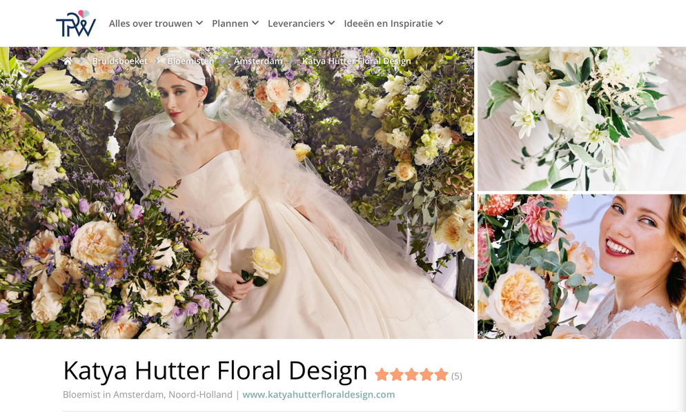 Katya Hutter Floral Design The Perfect Wedding