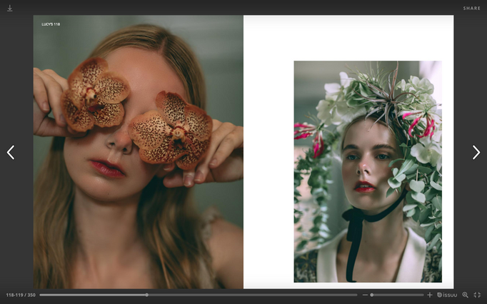 Lusy's magazine Katya Hutter Floral Design