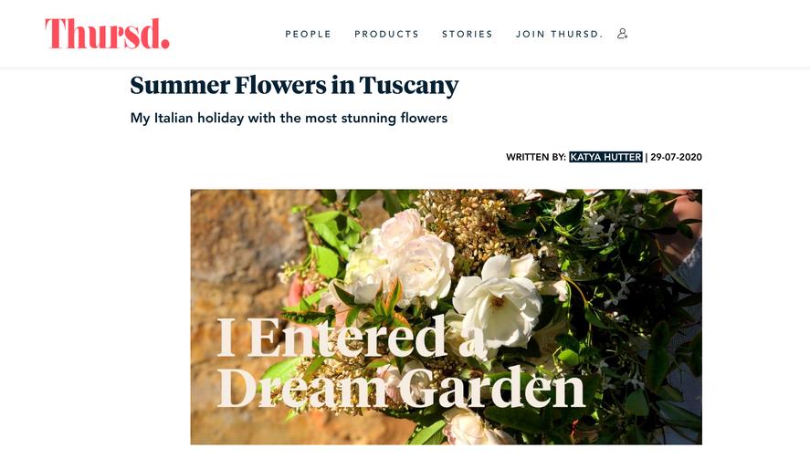 Katya Hutter Thursd Tuscany