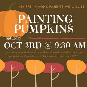 Pumpkin Painting Preschool-K