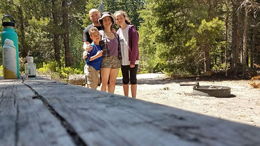 An image of our family in a camping trip