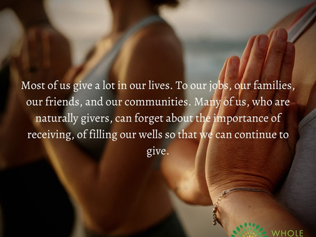 The Balance of Giving and Receiving