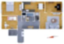 2D plan 4+1 na prodej Praha4 Chodov
