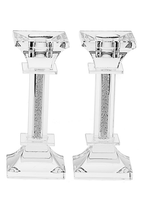 Crystal & Stone Candlestick