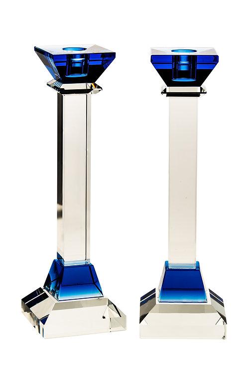 Bleu Crystal Candlestick