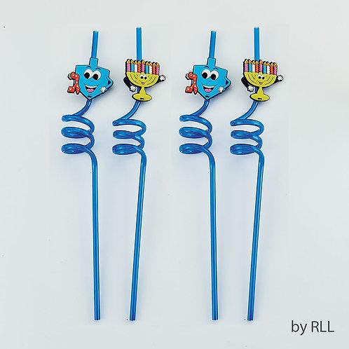 Chanukah Straws - Menorah/ Dreidel Design