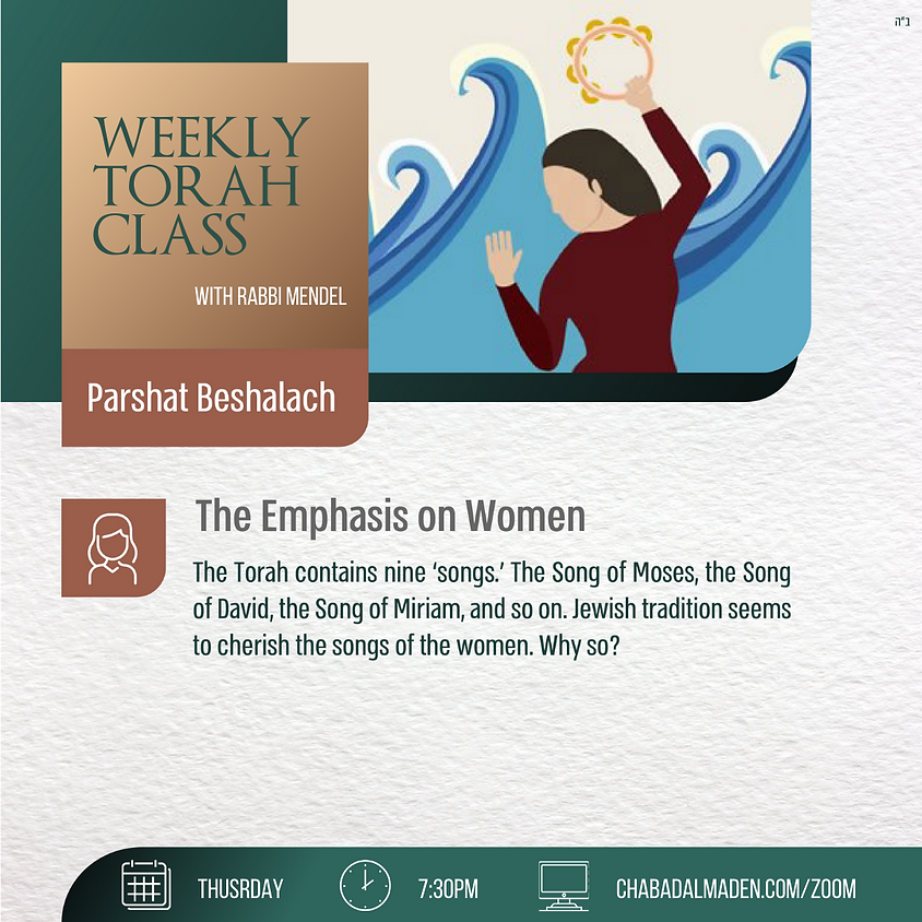 Zoom into the Parsha with Rabbi Mendel