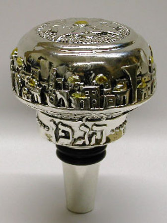 Silver Covered Wine Stopper