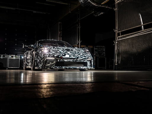 New Porsche 911 GT3 Cup for the Porsche Carrera Cup Benelux tests camouflaged