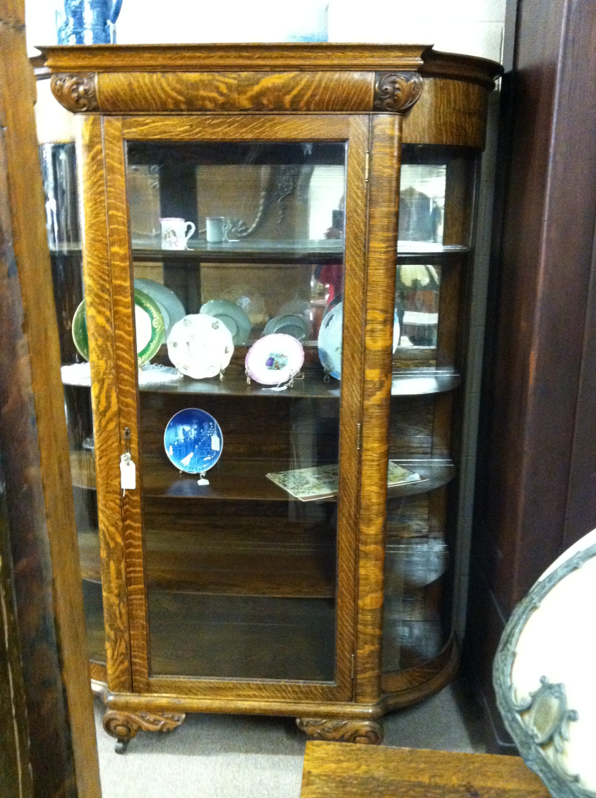 Oak China Cabinet Item#843