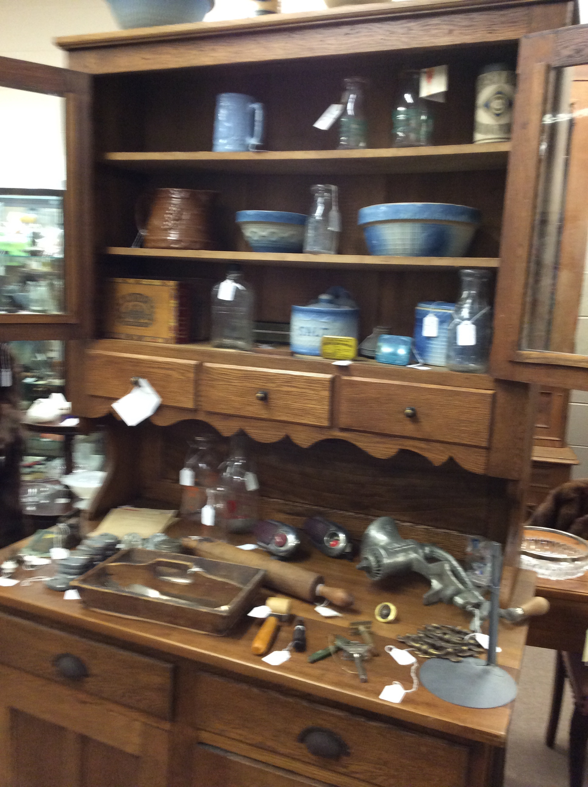 Cabinet sold items available