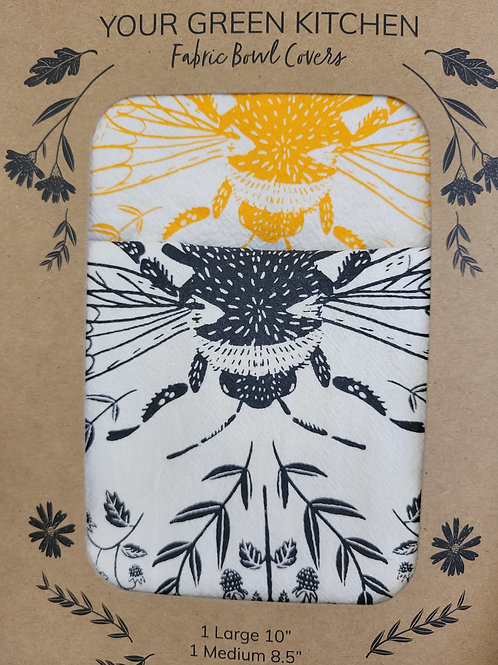 Double Fabric Bowl Covers-Bees