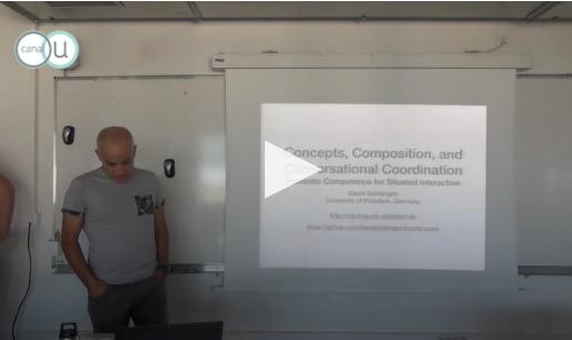 Conférence vidéo – David Schlangen : «Concepts, composition and conversational coordination :