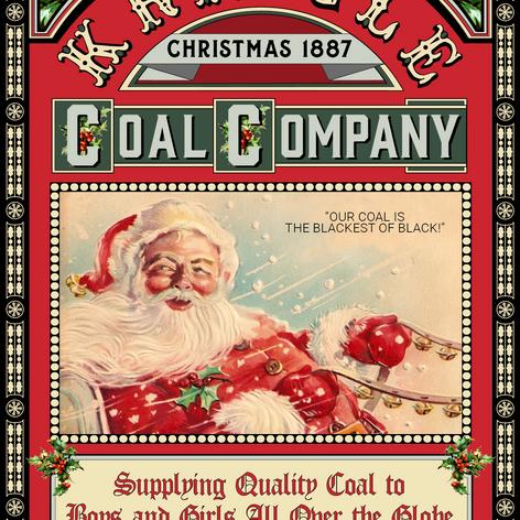 Kringle Coal Christmas Card