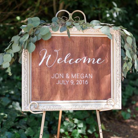 Modern Wedding Signs