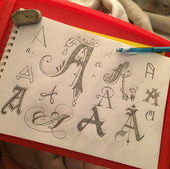 Letter A Sketches