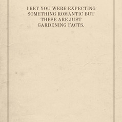 Gardening Facts Card