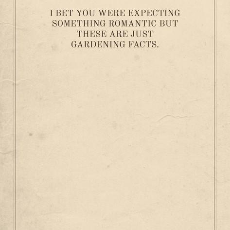 Gardening Facts Card