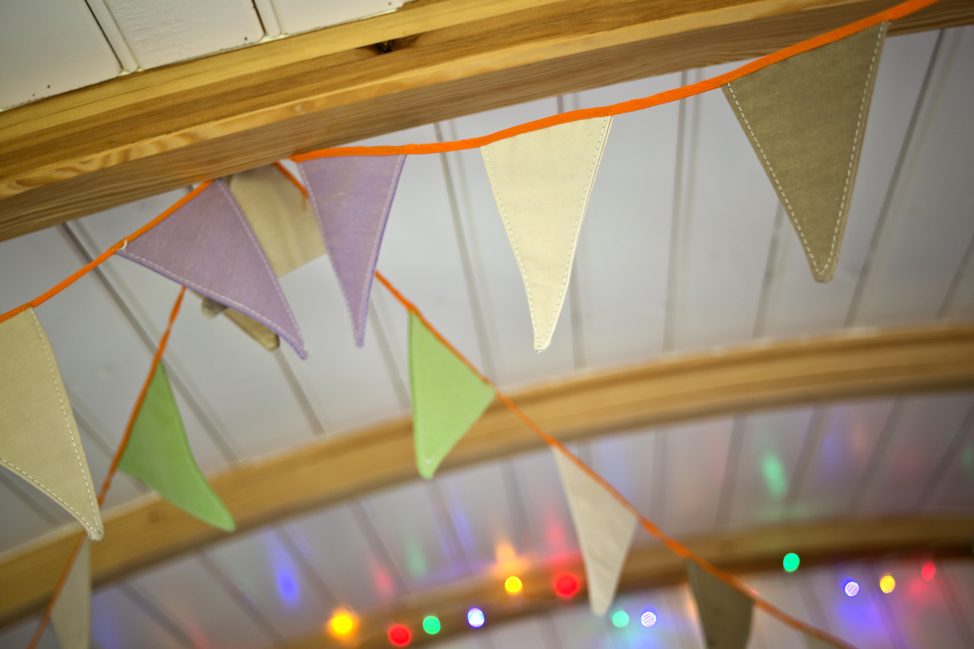 Fairy lights and bunting
