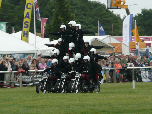 The White Helmits at Driffield show