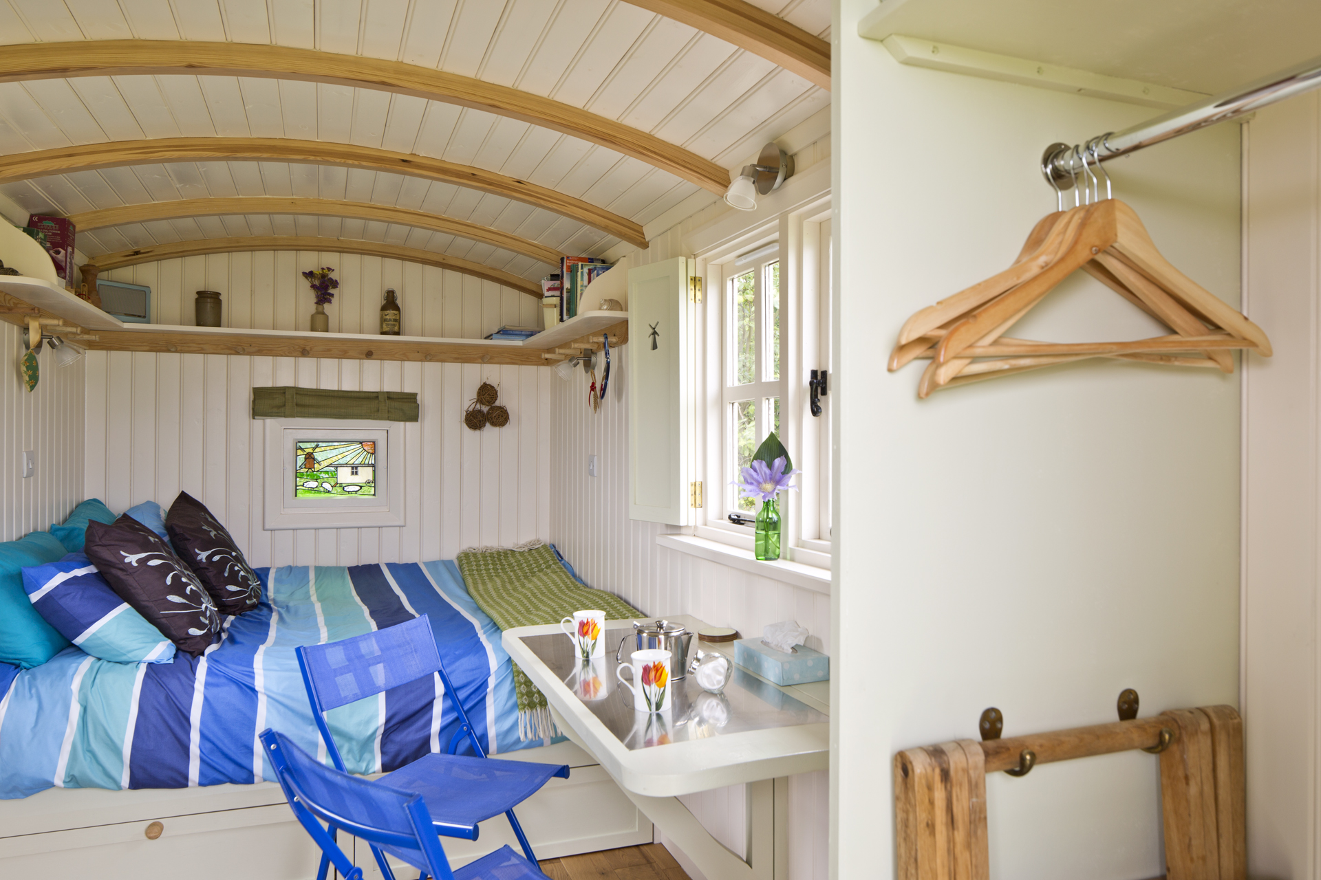 Mill Farm Shepherds Hut inside