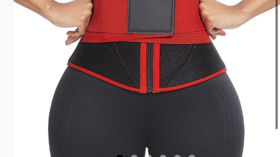 Large Ultra Light Red Neoprene waist trainer anti-slip