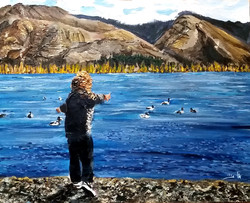 Nature Boy  - mountains, rivers and carefree  drifting ducks are his playmates