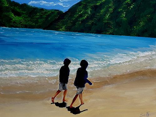On the seashore of endless worlds children meet