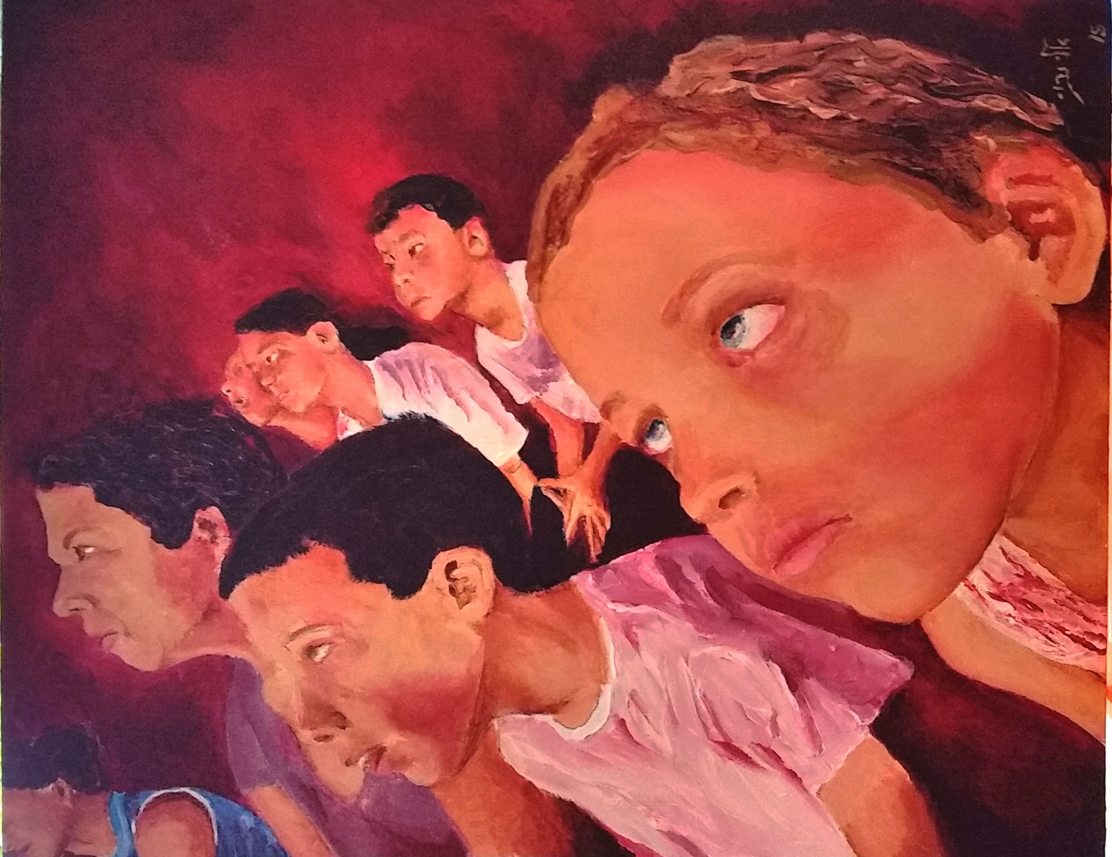 Under the Circus lights   Acrylic 40-50