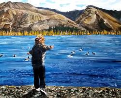 ילד הטבע – הרים, נהר וברווזים שאננים, נסחפים, הם החברים שלו