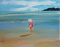 Mermaid rises to the shore in velvet pin