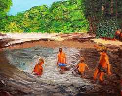 Those children bathing their beauties in the fairy lake