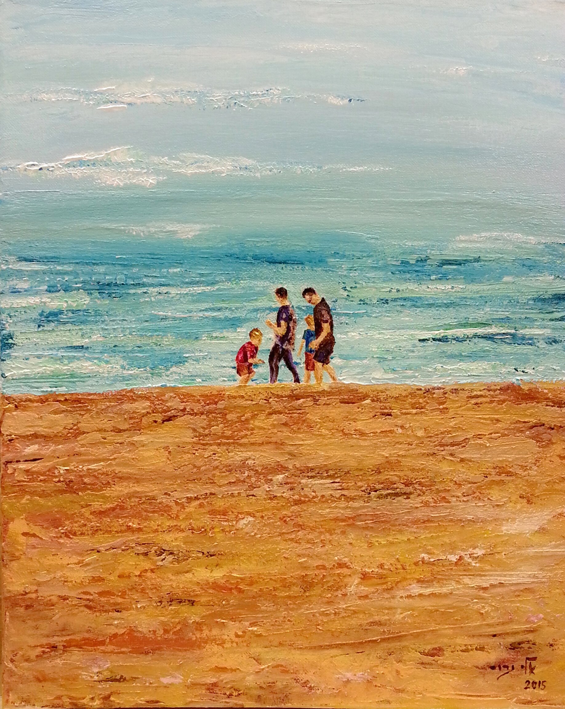 Sydney Manly Beach - Acrylic - 40 50 - 2015